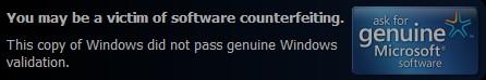 电脑开机后屏幕右下角一直有You may be a victim of software counterfeiting的解决方法